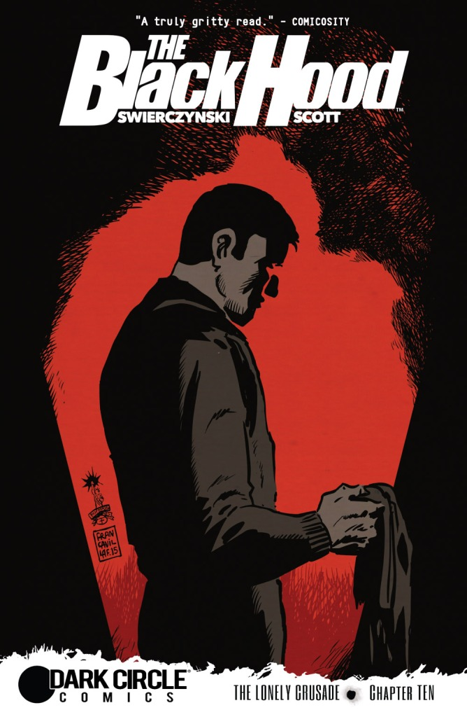 THE BLACK HOOD #10 Cover by Francesco Francavilla